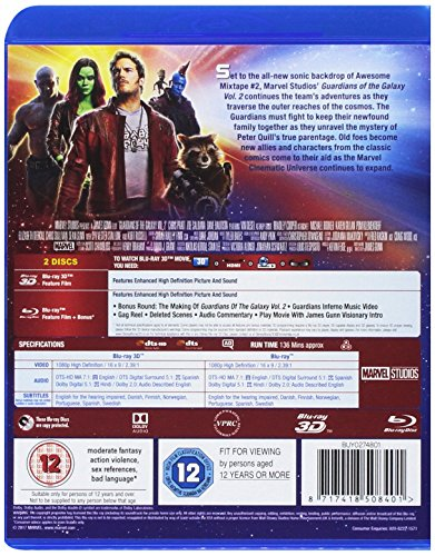 Guardians of the Galaxy Vol 2 (3D Blu-ray/2D Blu-ray)