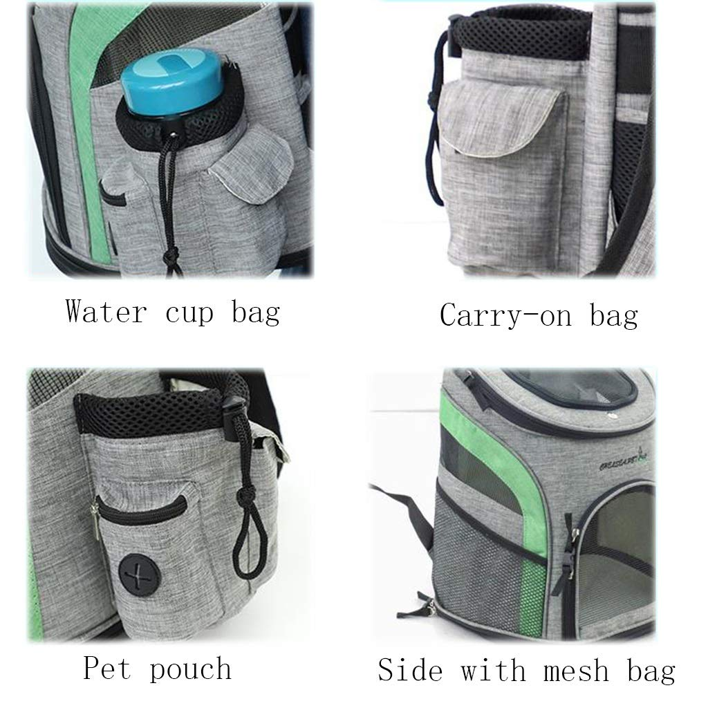 Multi-Function Pet Bag Adjustable Shoulder Strap Thickening Handle Hiking (Color : C) by Pet Supplies (Image #2)