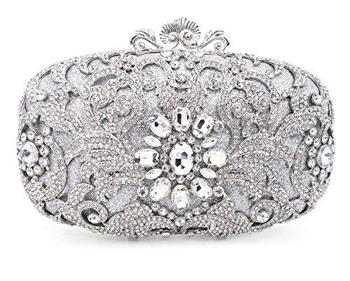 Luxury Crystal Clutch for Women Rhinestone Evening ()