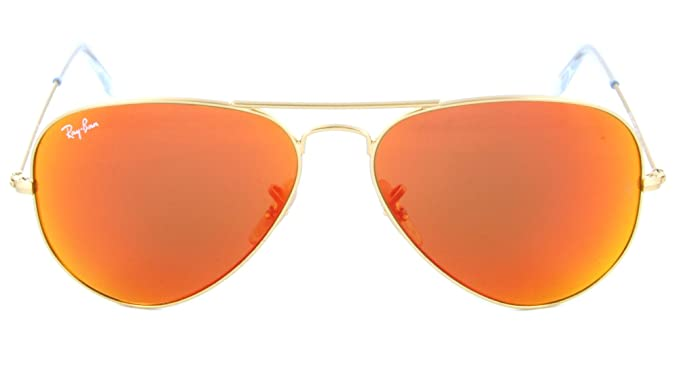 6982f7555d Ray Ban 3025 Aviator RB 3025 112/69 58mm Matte Gold Frame w/ Brown Mirror  Orange: Amazon.es: Ropa y accesorios