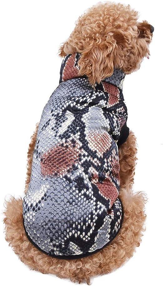 Amyline Chaleco De Mascotas,Camisa De Perro Mascota Abrigo De Perrito con Estampado De Cocodrilo Mascotas Gato Ropa De Abrigo Abrigo Sudadera Camiseta De Mascotas Sin Manga Cuello Redondo Disfraz: Amazon.es: Productos para