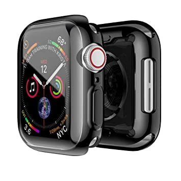 info for 588f9 d8c2e Cywulin Apple Watch 4 40mm 44mm Case Buit in TPU Screen Protector, 2018 New  iWatch Series 4 Overall Ultra Thin HD Clear Rugged Armor Bumper Protective  ...