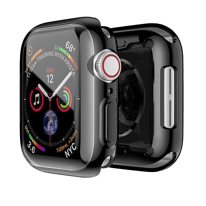Correa de Reloj para Apple Watch Serie 4 44mm,❤️Amlaiworld Cubierta Protectora de Parachoques Protectora de TPU Ultra Delgado de galjanoplastia Pulseras ...
