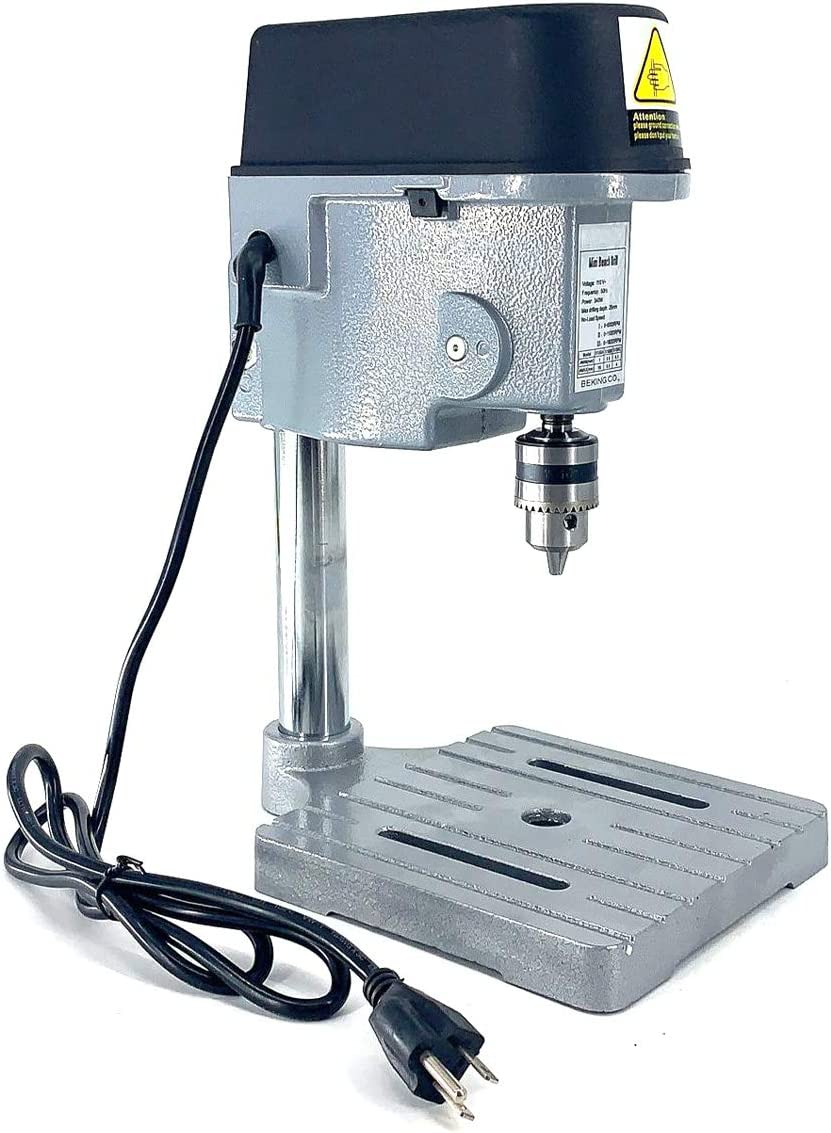 SUDEG 3-Speed Mini Benchtop Drill Press Compact Drill Jewelry Making Hobby Bench Tool for Wood//Plastic Plate//Resin Plate