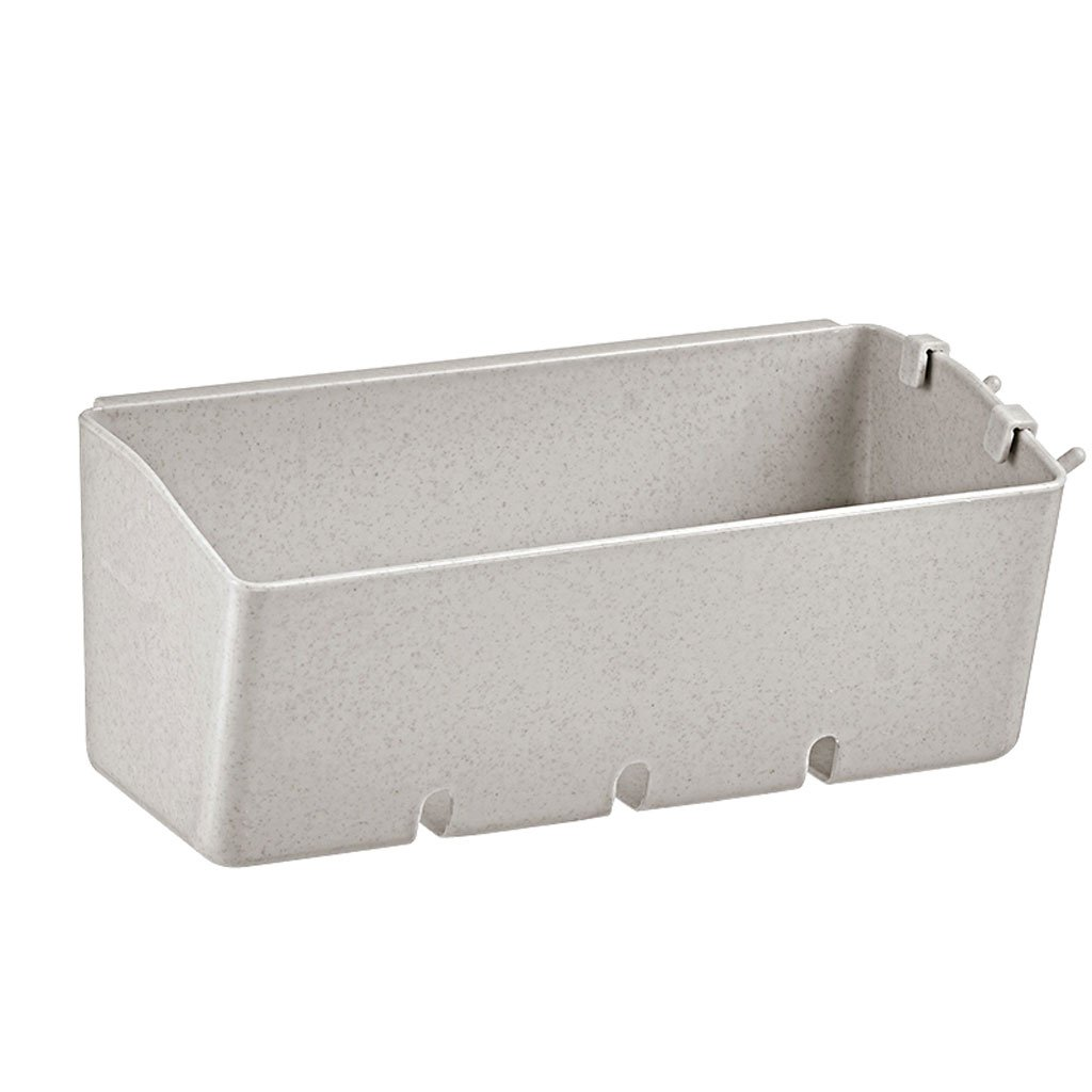 HY Punch-free Shelf Bathroom Bathroom Storage Rack Suction Wall Kitchen Storage Rack Storage Box (Color : Beige)