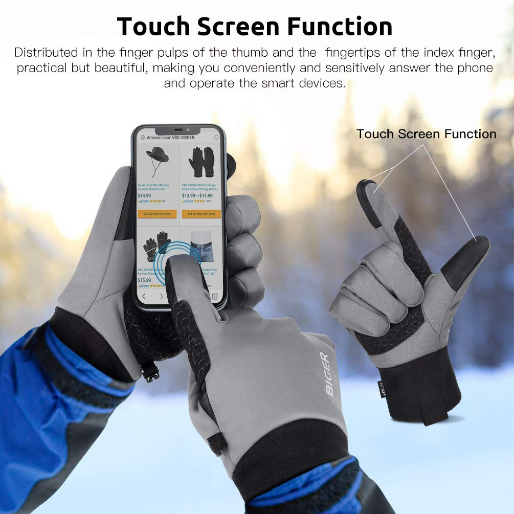 Waterproof Winter Gloves Fleece Warm Gloves Cold Weather Motorcycle Anti-slip Gloves Touch Screen Gloves for Women Men