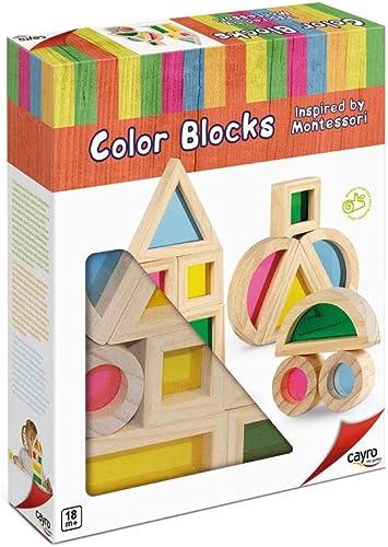 Cayro - Color Blocks Inspired by Montessori-Juego de ingenio - Desarrollo de Habilidades cognitivas - Juego de Mesa (8170): Amazon.es: Juguetes y juegos