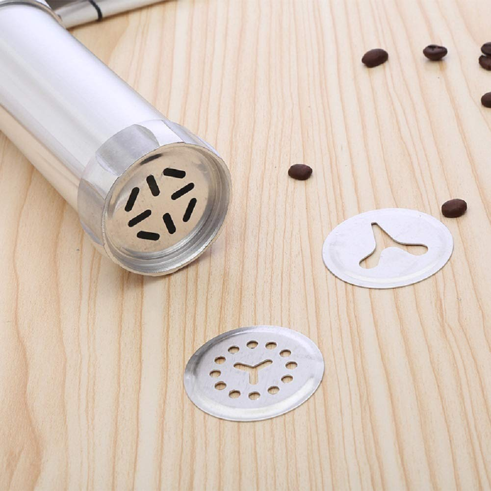 Stainless Steel Biscuit Cookie Press Gun Classic Biscuit Maker Cookie Extrudes with 13 Stainless Steel Cookie Discs and 8 Icing Tips with Biscuit Mold (Set 01) by sisileeda (Image #3)