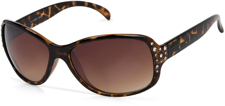 8cfe19e36e styleBREAKER gafas de sol con estrás y degradadas, forma de mariposa,  mujeres 09020054, color:Semi-marco marrón/delineado de vidrio marrón:  Amazon.es: Ropa ...