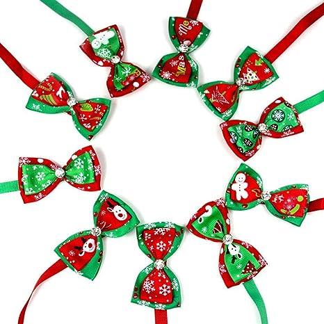 Aolvo Collar de Navidad para perro, 10 unidades de patrones de ...