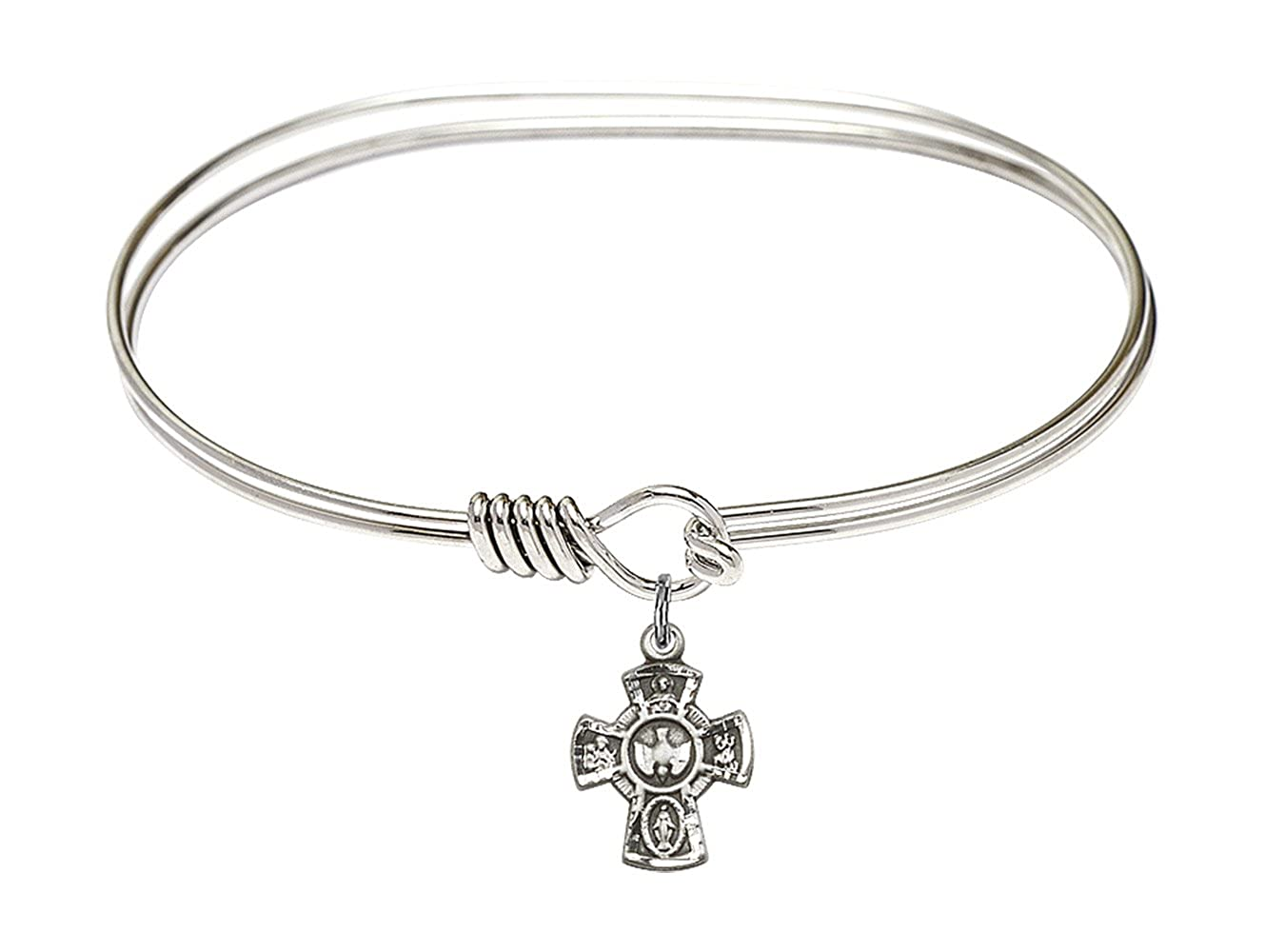 DiamondJewelryNY Eye Hook Bangle Bracelet with a 5-Way Charm.