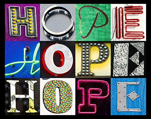 HOPE Personalized Name Poster Using Sign Letters - Small