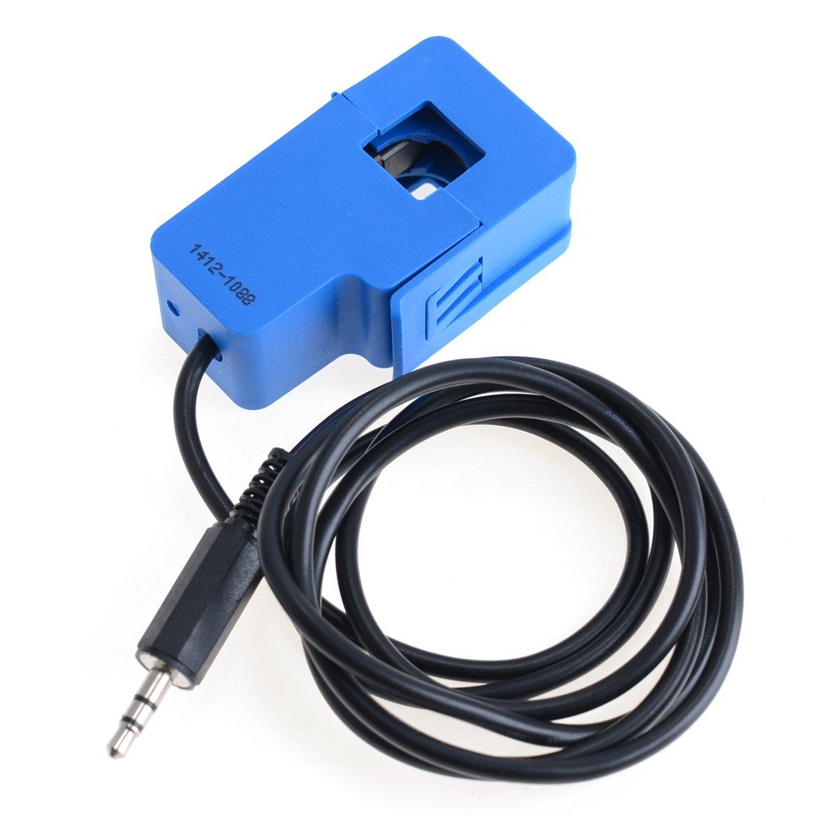 0~100A Non-invasive AC Current Sensor Split Core Current Transformer - Blue