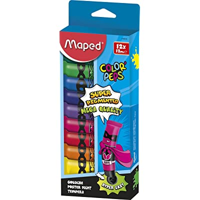 Maped 810510 Color'Peps Boîte Carton de 12 Tubes de Gouache