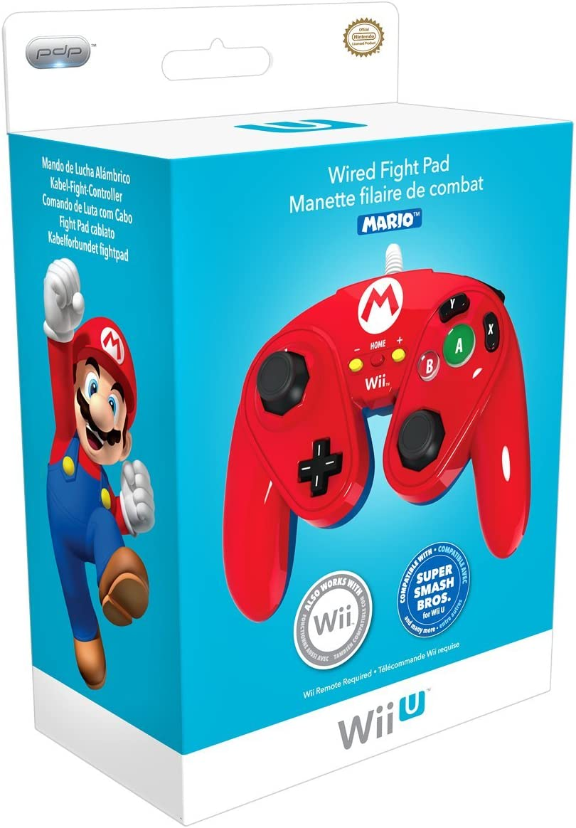Amazon com: PDP Wired Fight Pad for Wii U - Mario: nintendo