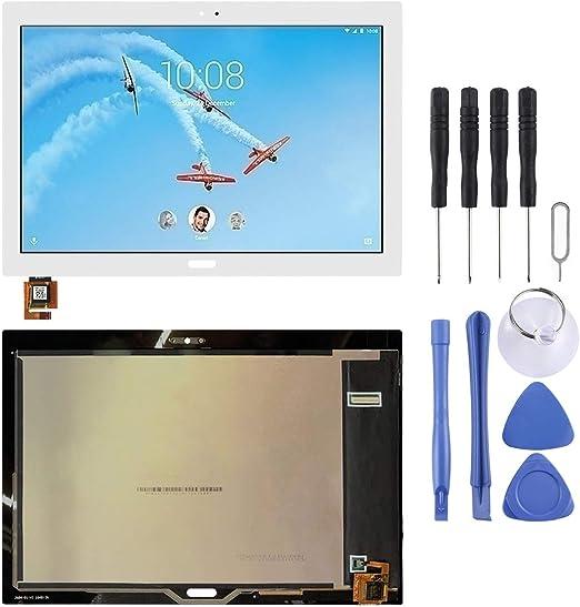 携帯電話 修理パーツ LCDスクリーンとデジタイザーのフルアセンブリ、Lenovo Tab 4 Plus TB-X704 TB-X704Lの修理部品の交換 (色 : 白)