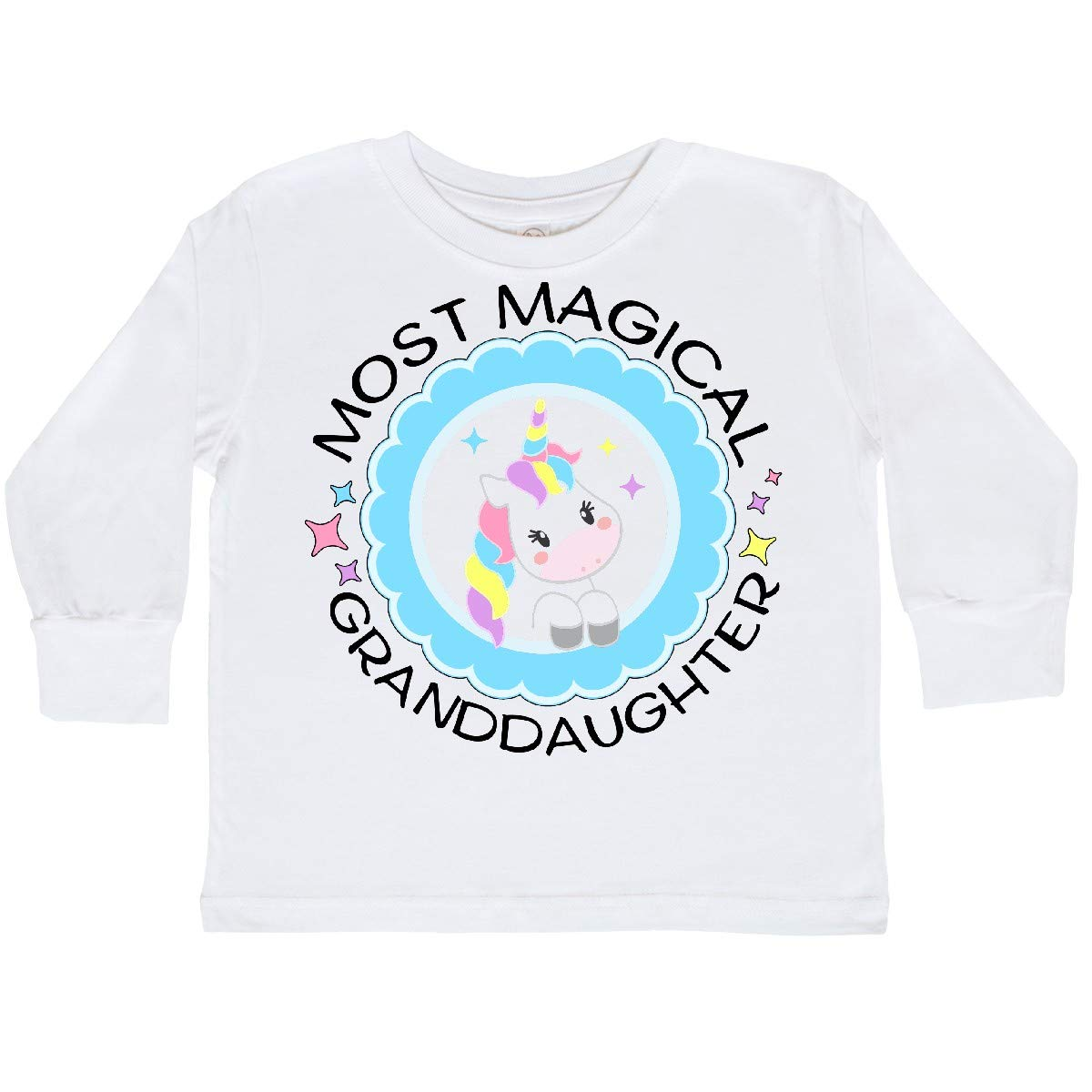 inktastic Most Magical Granddaughter Cute Unicorn Toddler Long Sleeve T-Shirt