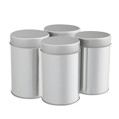 Amazon Tea Tins Canister Set with Airtight Double Lids for