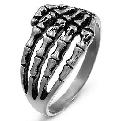 Amazon.com: Anillo de acero inoxidable para hombre, diseño ...