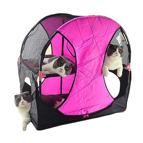 Túneles para Gatos Rosado, Parque Mascotas De Juego Cama ...