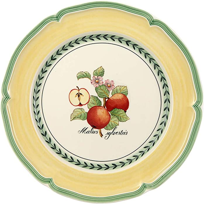 Villeroy & Boch French Garden Valence Dinner Plate : Apple, 10.25 in, White/Multicolored