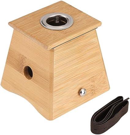 Bamboo Moxa Box Burner Moxa Roll Stick Soporte Cuerpo del cuerpo Acupuntura Naval Masaje para acupuntura Tipo de bayoneta Caja de moxibustión caliente Dispositivo de un solo orificio: Amazon.es: Belleza
