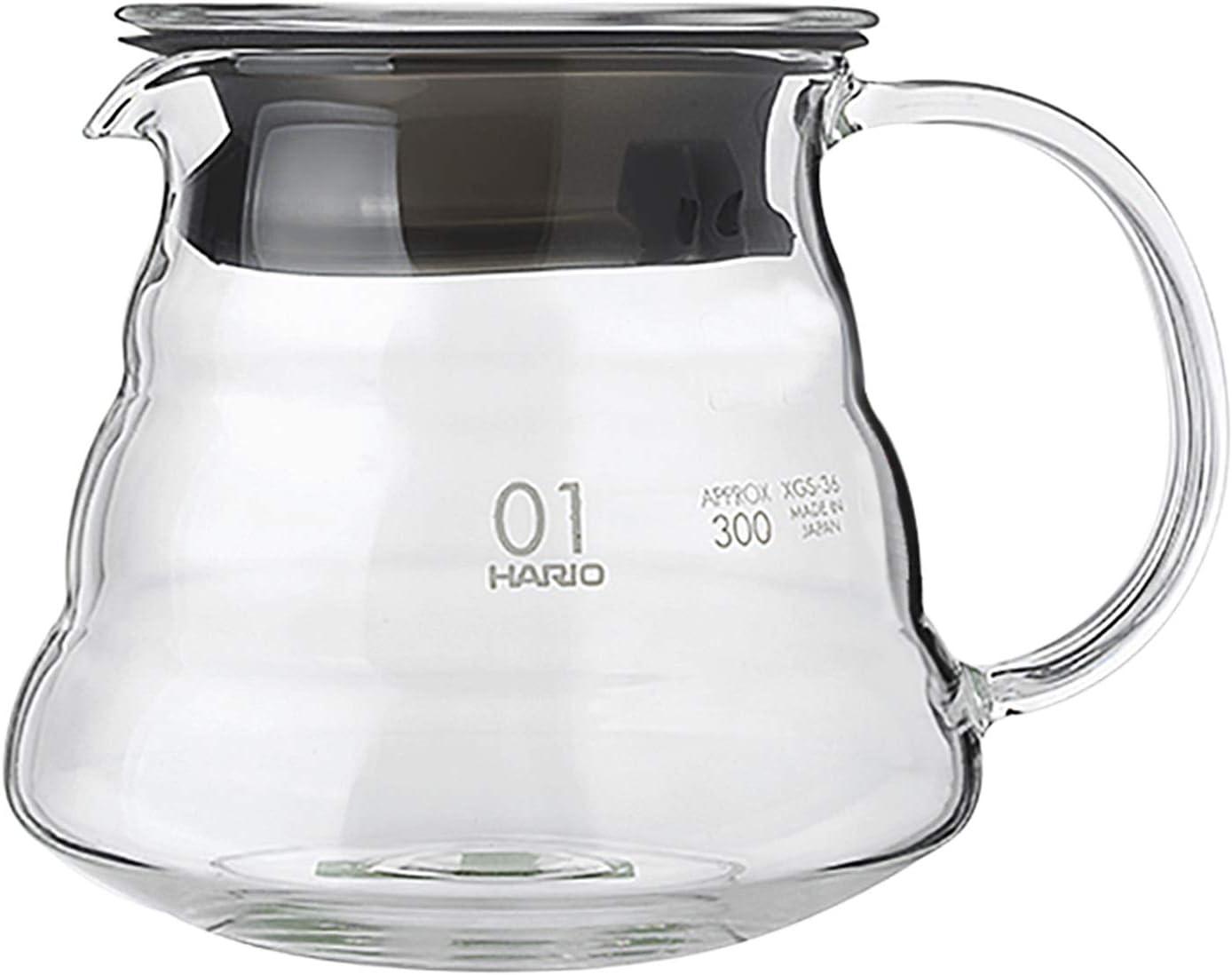 YJZQ - Jarra para cafetera (cristal, jarra con número 1 para microondas, botella, forma de nube y jarra de café universal con tapa