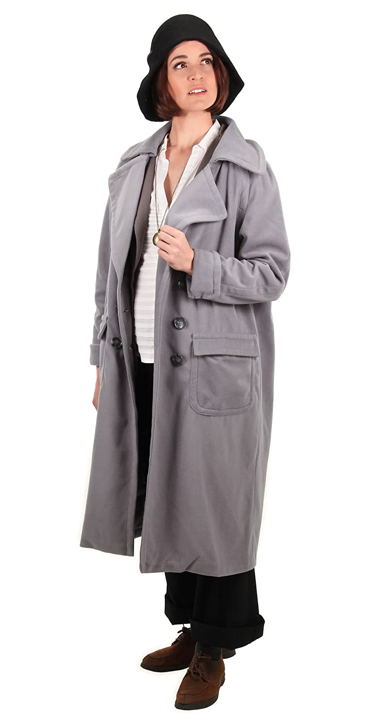 Roaring 20s Costumes- Flapper Costumes, Gangster Costumes Fantastic Beasts and Where to Find Them Tina Goldstein Coat by elope $124.96 AT vintagedancer.com