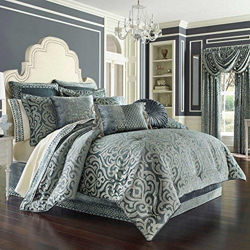 J. Queen New York Sicily Teal King Comforter Set Bedding