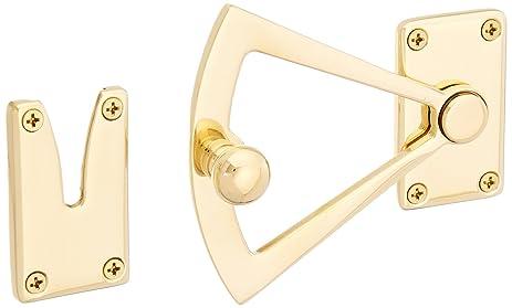 Baldwin 0340031 Dutch Door Quadrant, Unlacquered Bright Brass