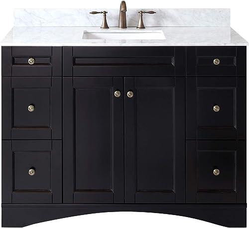 Virtu USA ES-32048-WMSQ-ES-NM Elise Bathroom Vanity, 48 inches, Dark Espresso