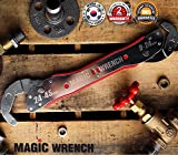"Up to 1 ¾"" Multi-function wrench Universal Adjustable auto-ratcheting works as reversible ratchet pop socket combination & pipe monkey spanner sae crescent nut gear-wrench set for craftsman & plumbers"