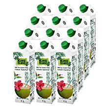 King Island 100-Percent Pure Coconut Water 1L (12-count) 406 Fluid Ounce