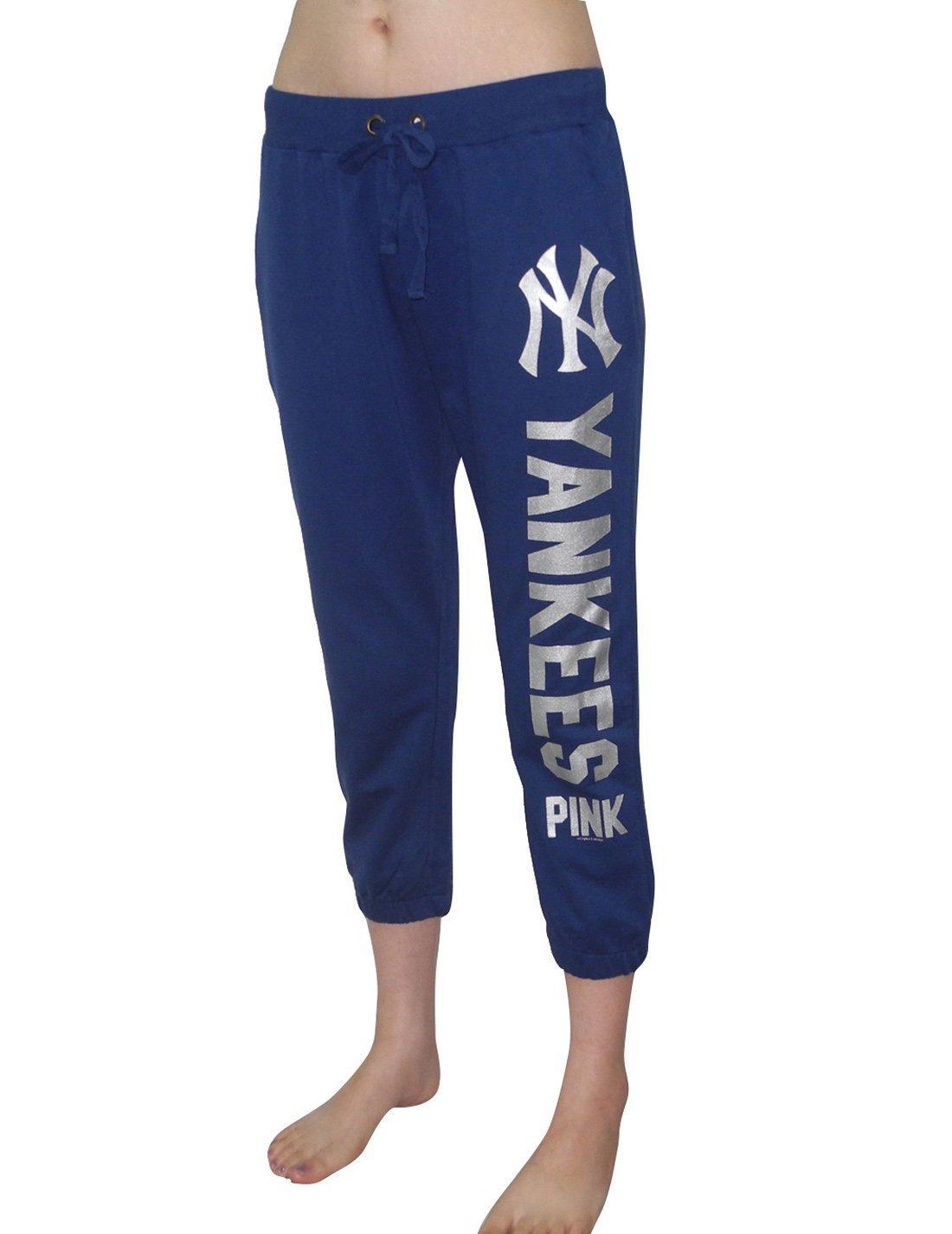 Mujer Rosa Victoria s Secret MLB New York Yankees Yoga Crop Pantalones - Azul Oscuro azul marino Talla:large: Amazon.es: Deportes y aire libre