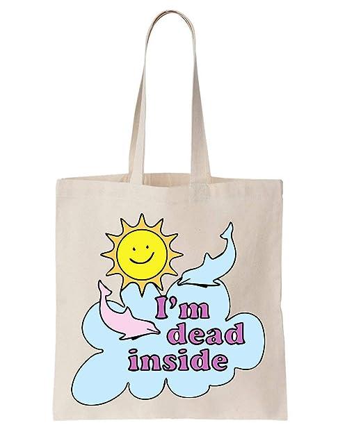 Im Dead Inside Algodón Bag Tote Bag: Amazon.es: Zapatos y ...