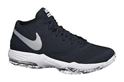 best website 20da8 f72e1 Nike Mens Air Max Emergent Basketball Shoe BlackWhiteAnthraciteMetallic  Silver Size