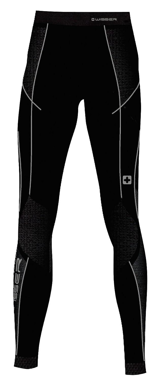 Wisser Thermo-Unterhose Damen mit Kompression leitet Schweiß nach außen ab, anatomisch geformt elastisch hautfreundliche Flatlock-Nähte Leggings Lang Black 46034