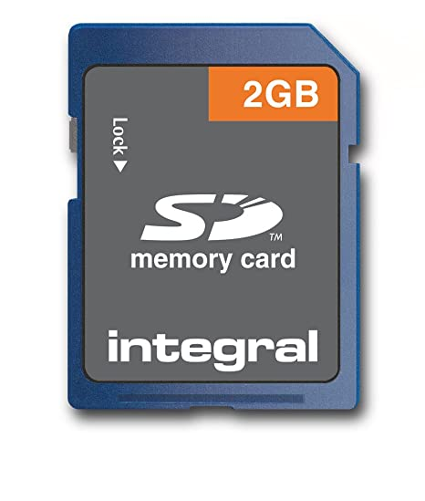 Integral 2GB SD Card - Tarjeta de Memoria (2 GB, Secure Digital (SD), Azul, 2.7-3.6 V, 24 mm, 2.1 mm)