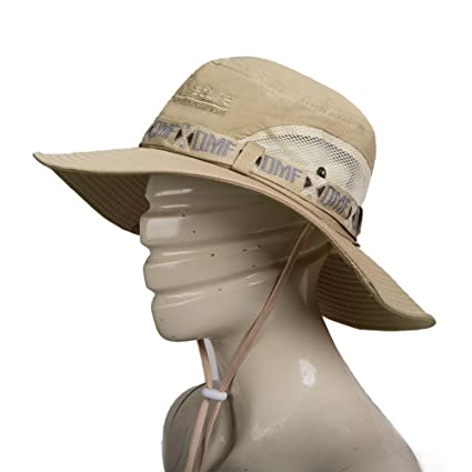 Fashion Summer Outdoor Sun Protection Cap Wide Brim Summer Hat for Fishing  Hiking e3fadf434a7f