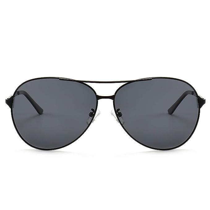 6ce7c8eaaa SUNGAIT Huge Oversized Aviator Sunglasses for Men Women Polarized UV400 Sun  Glasses Classic Metal Frame (