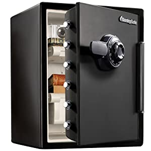 SentrySafe SFW205CWB Fireproof Safe and Waterproof Safe with Dial Combination 2.05 Cubic Feet