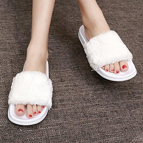 umido alla fondo donna di XIAOGEGE Cool scarpe esterno togliere White traino spessore Plush le piatto estivi a moda estivi donna inferiore Wear EwqSAY