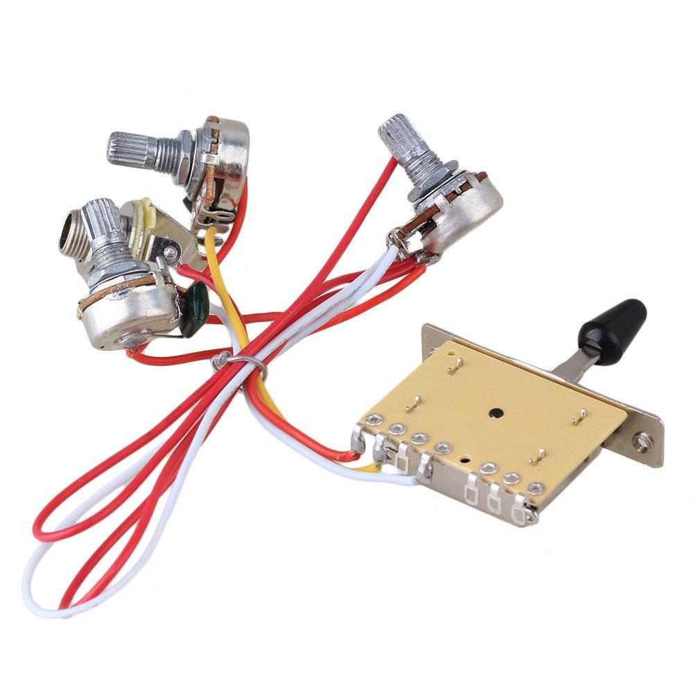 Bqlzr Guitar Wiring Harness Prewired 047 Cap 3 500k Pots Amazonco Telecaster Uk Musical Instruments