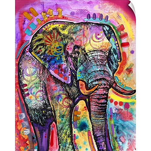 """CANVAS ON DEMAND Dean Russo Wall Peel Wall Art Print Entitled Elephant in Charge 16""""x20"""""""