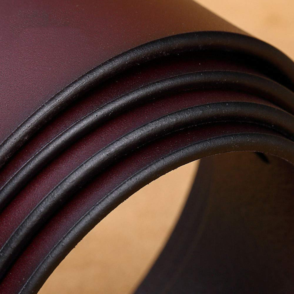 DENGDAI Belt Men Leather Needle Buckle Belt Mens Youth Casual Belt Pants Length 100-135cm