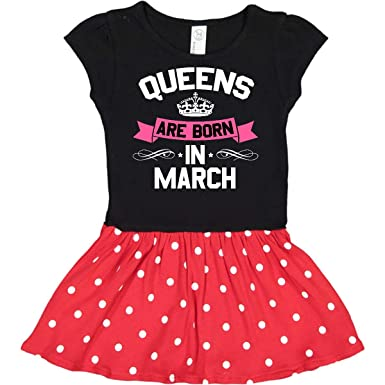 e299607d Amazon.com: inktastic - Queens are Born in March Infant Dress 294e5:  Clothing