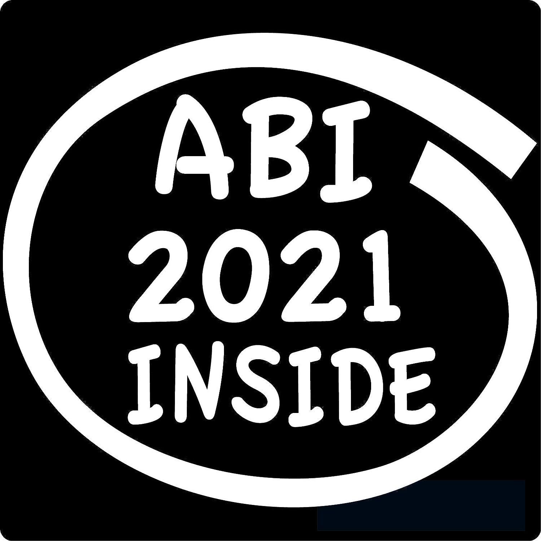 ABI 2021 11 x 10 cm K-Serie in 24 Farben erh/ältlich wei/ß,gl/änzend Inside Autoaufkleber Aufkleber Car Sticker Heckscheibe Spruch Abitur cartattoo4you/® AB-02310