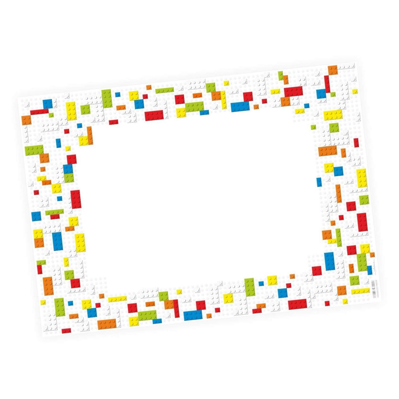 nikima Sch/önes f/ür Kinder sous-main /à colorier A2 Briques color/ées Cadeau danniversaire ou de rentr/é 25 feuilles de papier /à arracher Sous-main pour enfant orn/é de briques LEGO