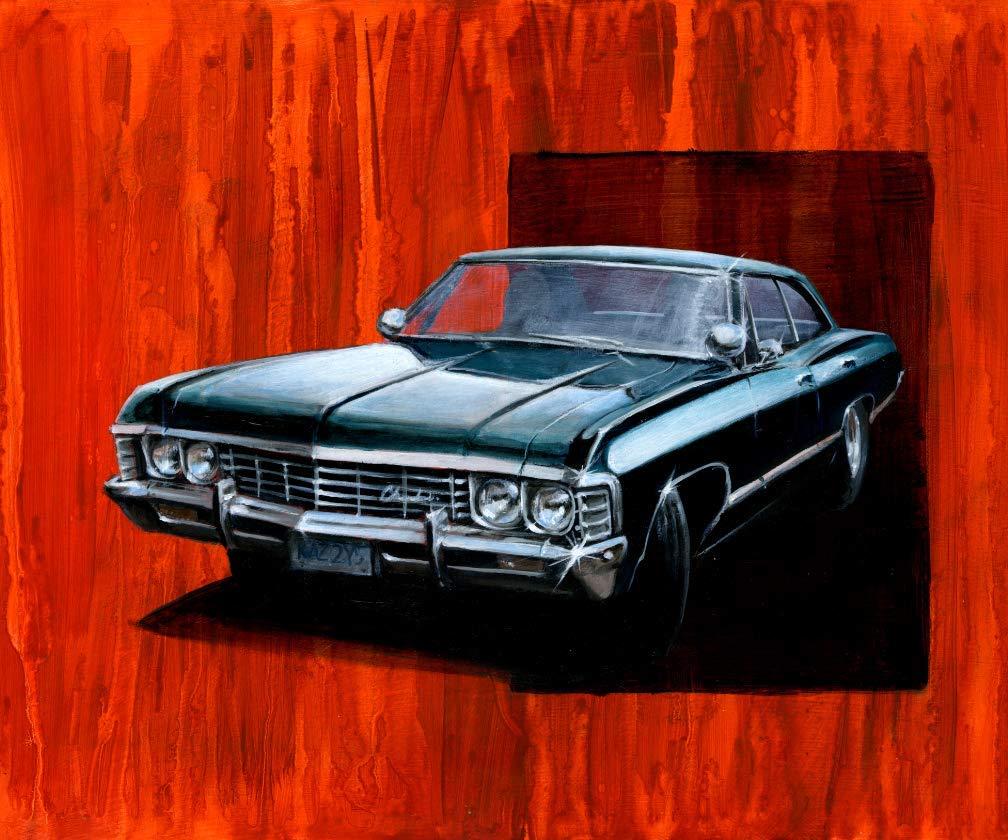 Amazon Com 1967 Chevy Impala From Supernatural Poster Print Handmade