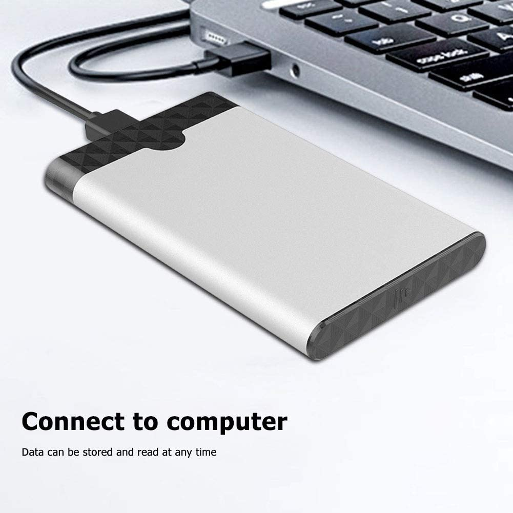 suitable for PC desktop notebook computers USB-C and Micro USB3.0 interface 2.5-inch hard drive adopts SATA3.0 6Gbps transmission Sutinna Portable external hard drive 2TB//1TB Size : 1TB